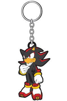 Sonic - The Hedgehog Rubber Keychain Shadow Shadow The Hedgehog, Sonic The Hedgehog, Rubber Keychain, Anime Merchandise, Gaming, Snoopy, Cool Stuff, Comics, Cool Things