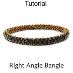 Right Angle Weave RAW Bangle Bracelet Jewelry Making Beading Pattern Tutorial