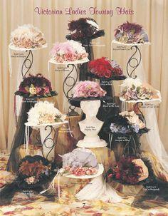 Victorian Hats, Victorian Women, Victorian Fashion, Tea Hats, Hat Crafts, Kentucky Derby Hats, Fancy Hats, Dress Hats, Retro Chic