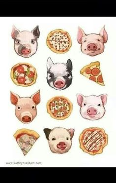 #wallpaper #pigs #pizza #background