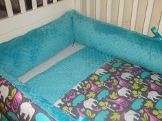 Custom Zoology in orchid crib bedding set by Sewunexpectedthreads, $300.00