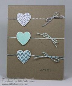 Stampin Up Hearts a Flutter stamp set and coordinating Framelits. Craft Cards, Card Crafts, Diy Cards, Paper Crafts, Rubber Stamping, Stamping Up, Card Making Inspiration, Making Ideas, Valentine Cards