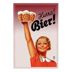 Hurra! Bier! Canvas Art by Buyenlarge