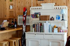 Not every family has/wants/needs a dedicated homeschool room.  See how this family organizes supplies around the home.  This solution is awfully pretty, too.