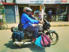 Milk delivery #milkdelivery #milk  #nepal #Kathmandu #motorcycle