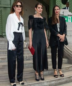 Princess Caroline of Hanover, Charlotte Casiraghi, Andrea Casiraghi and Tatiana Casiraghi. Princess Alexandra, Princess Estelle, Princess Charlene, Royal Fashion, Fashion Looks, French First Lady, Andrea Casiraghi, Monaco Royal Family, Royal Dresses