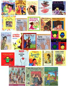 Adoption books for families...  (The link doesn't work, but the graphic shares them all!)