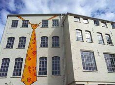 An elegant facade!  street art tie