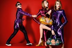 Romeo Beckham, Edie Campbell and Cara Delevingne for Burberry spring/summer 2013