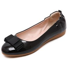 Ballerina Shoes For Women Sweet Teenagers' Flats Spring Women's Footwear Red Ballet Flats Shoes Bailarinas Mujer Shoes Rubber Red Ballet Flats, Black Flats Shoes, Fancy Shoes, Black Loafers, Ballerina Shoes, Pretty Shoes, Loafer Shoes, Flat Shoes, Girls Dress Shoes