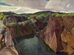 """ Leon Kroll American, 1884-1974 Abandoned Quarry, Gloucester, 1944 """