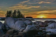 Stonington Maine Photograph - Stonington Harbor Maine Sunset by Stan Dzugan