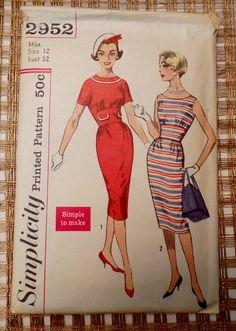 Vintage Pattern 1950s 1960 Simplicity 2952 by momandpopcultureshop, $26.00