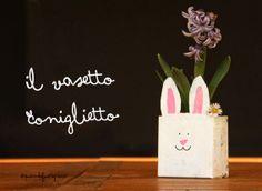 il vasetto coniglietto fai da te in 3 semplici passaggi.  D.I.Y. milk carton flower pot