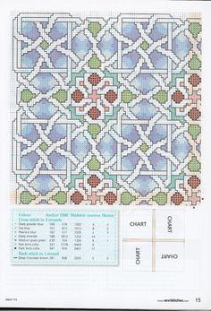 Geometric Patterned Pillow - 2/2   Gallery.ru / Фото #2 - New Stitches 172 - rua
