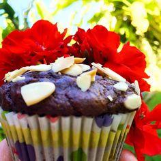 Aprenda a fazer um delicioso Muffin de Chocolate sem glúten e sem lactose, com biomassa de banana verde, amêndoas e coco.