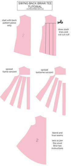 DIY Women's Clothing :    Tutorial // Swing back briar tee — megan nielsen design diary    -Read More –