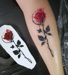 Waterclolr rose tattoo - 120+ Meaningful Rose Tattoo Designs