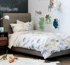 Dinosaurs kid's bedding can be stylish too!