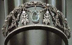Diamond and Aquamarine Tiara