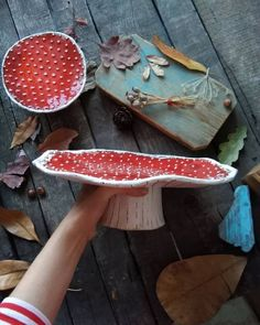 Now in stock there are two mushroom plates: small inches) and large inches) ., in stock there are two mushroom plates: small inches) and large inches). You can order it in my Etsy shop! ❌Price for small plate -. Ceramics Projects, Clay Projects, Clay Crafts, Diy And Crafts, Arts And Crafts, Ceramic Pottery, Ceramic Art, Cerámica Ideas, Pottery Classes