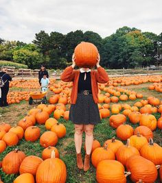 Just over here being a pumpkin head!