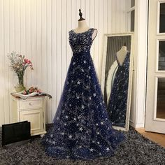 New style, v-neck evening dress, luxury party dress,sequin Blue Evening Dresses, Prom Dresses Blue, Pretty Dresses, Sexy Dresses, Beautiful Dresses, Fashion Dresses, Formal Dresses, Formal Prom, Evening Gowns