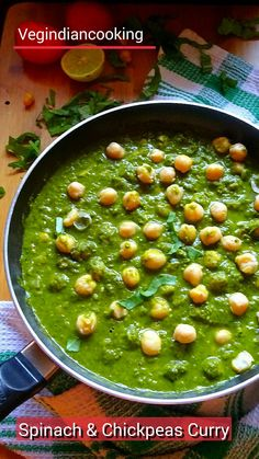 How to make Palak Chole   Spicy Spinach & Chickpeas Curry   Chana Palak Curry   Chickpeas and Spinach Recipe  Garbanzo Beans #palak #green #chole #spinach #chickpeas #recipe #indianrecipes #indianfood #healthylife #healthy #protein #winterspecial #yummlicious #vegindiancooking #vegindiangoodfood #foodblog #foodblogger #indianfood