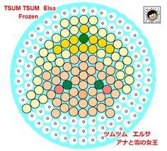 Tsum Tsum Frozen Perler Beads