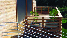 Find balcony railing frameless	 only on this page