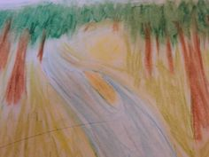 Landscaped // Forest. My first one w/ oil pastels. by Angela R. Watts