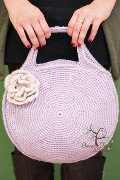 #crochetbag, #crochetpurse, #crochetipadcarrier, #annadusekcreations on Etsy, #crochetminidiaperbag