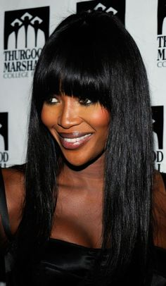 20 Ways to Wear Blunt Bangs: Long Hair With Thick, Blunt Bangs