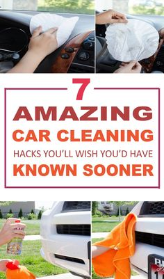 The most AMAZING CAR CLEANING tips!!! These will make my work a lot easier. Definitely pinning for later to clean my car!!!