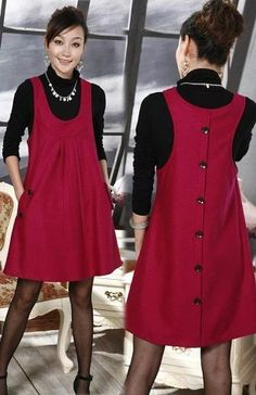 Women clothing Wool dress Autumn new arrival 2012 women's full dress woolen plus size one-piece dress skirt sleeveless vest _ - AliExpress Mobile Trendy Dresses, Fall Dresses, Simple Dresses, Nice Dresses, Casual Dresses, Short Dresses, Fashion Dresses, Summer Dresses, Awesome Dresses