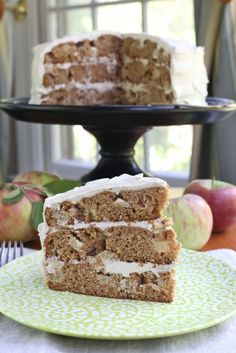 Apple Layer Cake with Spiced Cream Cheese Frosting