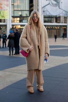 Cozy camel layers are always in season. As seen on Harper's Bazaar.