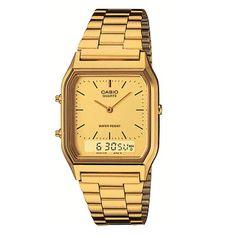 1a26731f359 Relógio Feminino Anadigi Casio Vintage AQ-230GA-9DMQ - Dourado