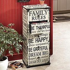 Family Rules Cabinet from Seventh Avenue ®   DI704945 $149.00