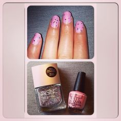 Pink and sparkly nails OPI Hawaii collection - Suzy shops and island hops Nails Inc Gel Effect - Piccadilly Place