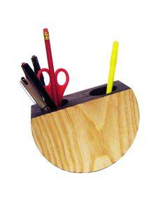 playful product design by Samuel Lindup, balancing pen holder #unique #handmade #naturalwood