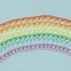 ボタンホールステッチの虹の刺繍の画像 | 【かんたん刺繍教室】たった6つのステッチだけでらくらく刺繍上達ブログ