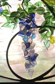 Contemporary Art Nouveau Wisteria Detail