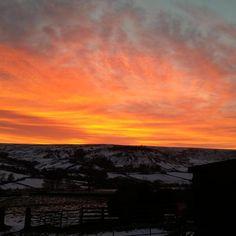 Sunset, Rosedale, #North_York_Moors National Park, #England. https://twitter.com/northyorkmoors/status/564832710666248192