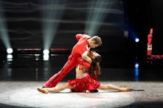 """Top 16 contestants Matthew Kazmierczak and Audrey Case perform a Salsa routine to """"Cinco Salsa"""" choreographed by Liz Lira on SO YOU THINK YOU CAN DANCE."""