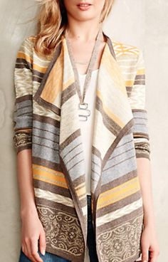 love this striped yellow cardigan 25% off with code HOLIDAY25 #anthrofave #BlackFriday http://rstyle.me/n/sgttdr9te