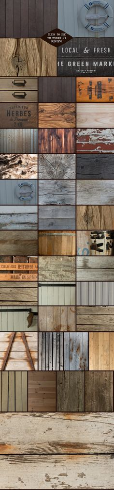 The Woody Collection II by Madebyvadim on @creativemarket
