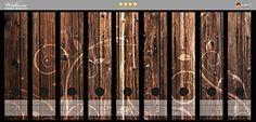 Ordnerrücken Sticker Braunes Holz mit Ornamenten in Premiumqualität - Größe 54 x 30 cm, passend für 9 breite Ordnerrücken                                                                                                                                                                                 Mehr