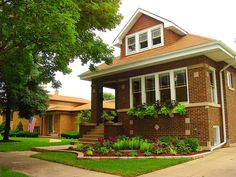 A typical Chicago bungalow, common on the South Side. Chicago, IL