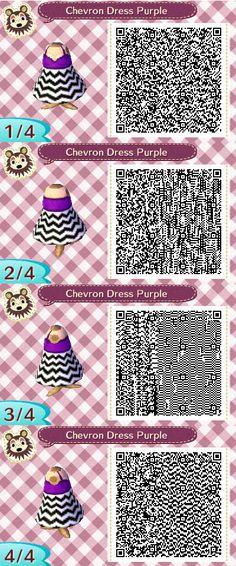 Cheveron Dress Purple QR Code by ChibiBeeBee on DeviantArt